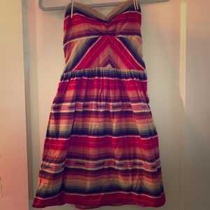 Roxy strapless serape print dress, S🌹